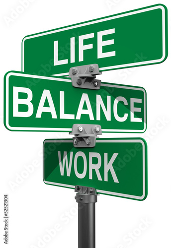 Work Life or Balance street signs