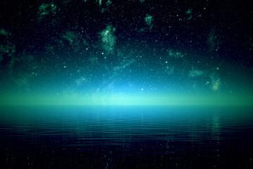 Night over sea.