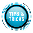 tips blue circle glossy icon