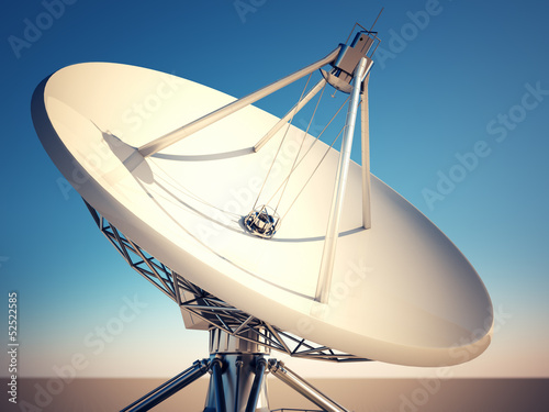 Satellite dish.