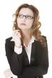 Thoughtful pretty businesswoman