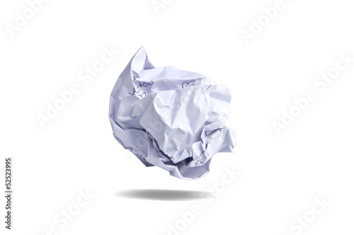 Paper being crumpled.