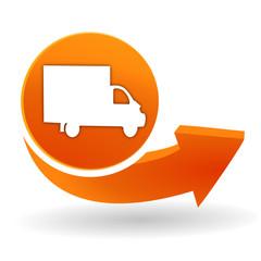 livraison sur bouton web orange