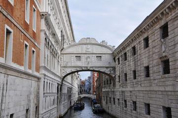 Seufzerbrücke Ponte dei Sospiri in Venedig, Italien