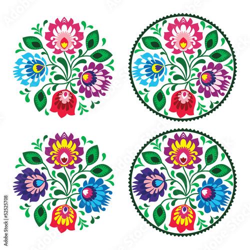 etniczne-okragle-hafty-z-kwiatami-tradycyjny-polski
