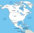 North America - vector map