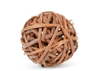 A decorative wicker wooden balls