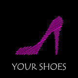 Vector logo pink shoes