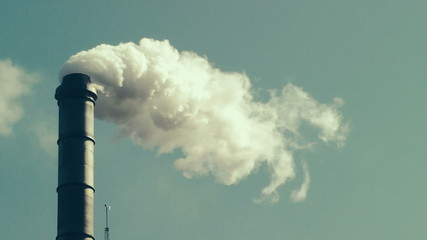 Fumes billowing out of smokestack, Oregon