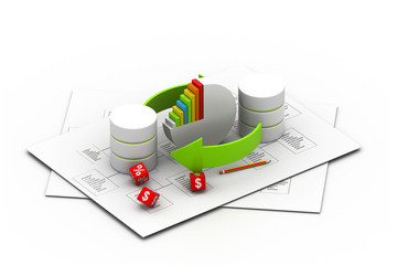 Databases concept.(business concept) .