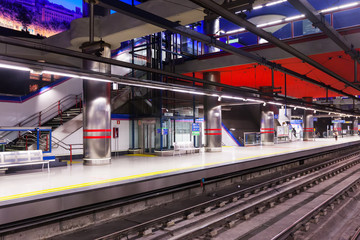 Madrid Metro - station Aeropuerto