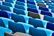 Sport arena with seats in blue color