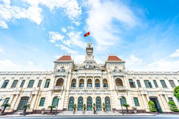 Beautiful Ho Chi Minh City Hall in Vietnam, Asia.