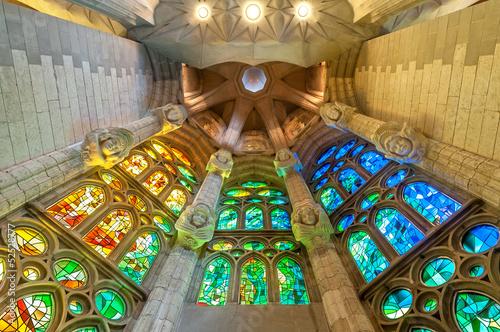 Leinwanddruck Bild Sagrada Familia of Barcelona in Spain, Europe.