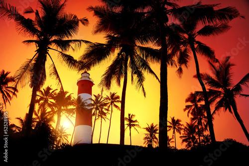 Fototapeten,leuchtturm,indien,leuchtturm,tropisch
