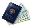 four passports and some belarusian money