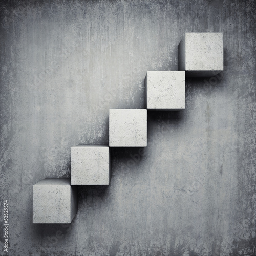 Abstract concrete staircase - 52529574
