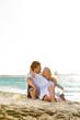 Happy mature couple on the beach
