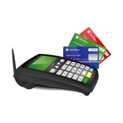 Payment terminal with color bank cards