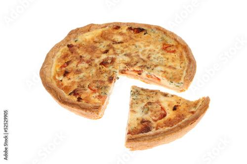 Quiche and slice