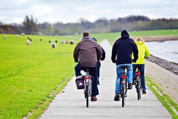 Fahrradtour am Deich - Norddeutschland