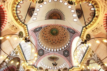 Interior view of Suleymaniye Mosque