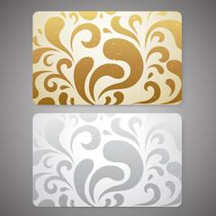 Gift card / Discount card / Business card. Scroll shape