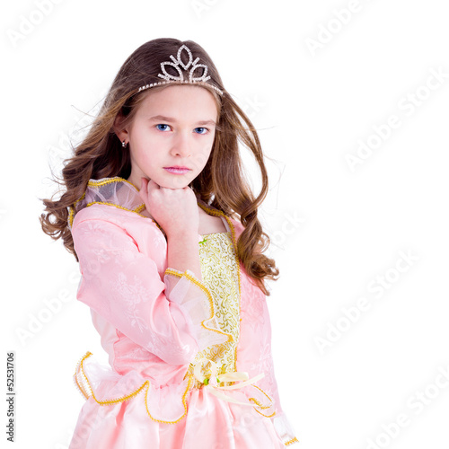 Young girl dressed as a princess