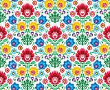 Fototapety Seamless floral polish pattern - ethnic background