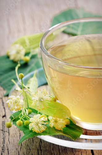 linden tea and flowers