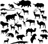 twenty nine animal silhouettes collection