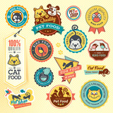 Set of animal labels and stickers