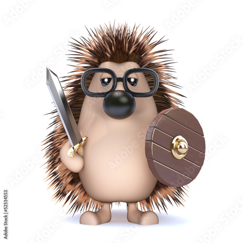 Cute hedgehog lives the barbarian lifestyle