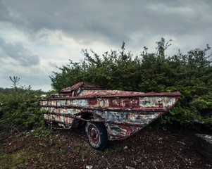 rusty old trailer