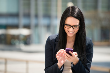 Mobility - woman with smartphone