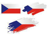 Brush Flags Czech Republik