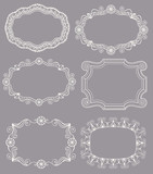 Selection of 6 different Vintage Lace Frames