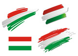 Brush Flags Hungary