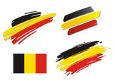 Brush Flags Belgium