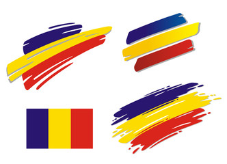 Brush Flags Romania
