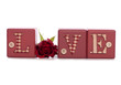 word love with red rose