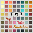 Set of cool color swatches