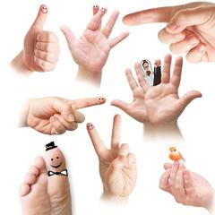 Finger - Handzeichen - Set