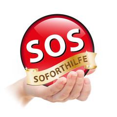 Hand - Plakette - SOS Soforthilfe