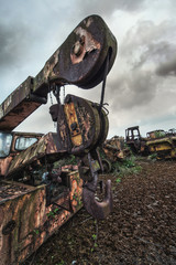 scrapped crane