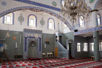 Intérieur d'une mosquée - Datca, Turquie