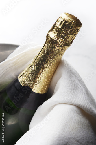 Bottle of Champagne - ready to be served