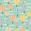 Retro seamless travel pattern of balloons. - 52539752