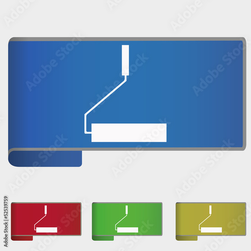 Vector illustration web bookmark - roller