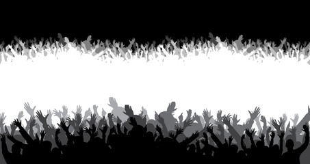 Crowd silhouette